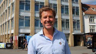 Administrerende direktør Hans-Henrik Merckoll i IBM Norge.