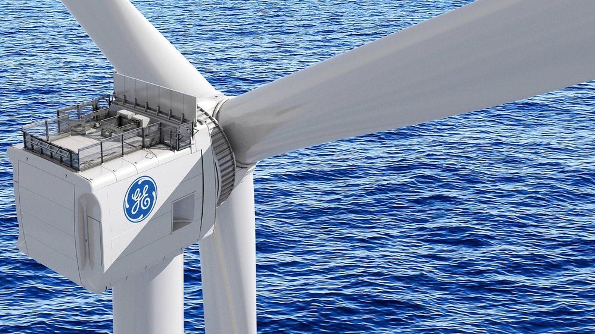GE Haliade-X er verdens største vindturbin.