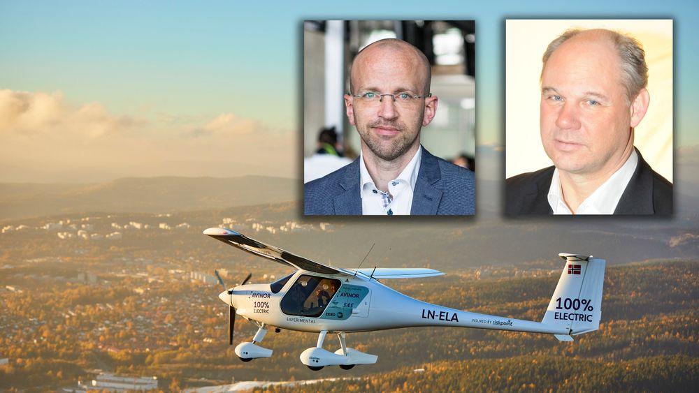 Avinors elektriske fly fra Kjeller lufthavn og over Oslo sentrum.