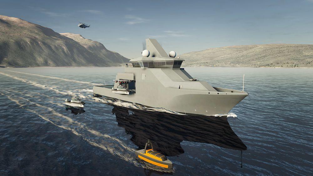 Kongsberg Vanguard blir et multirollefartøy som vil fungere som moderskip for en rekke ubemannede farkoster, avhengig av oppdrag.
