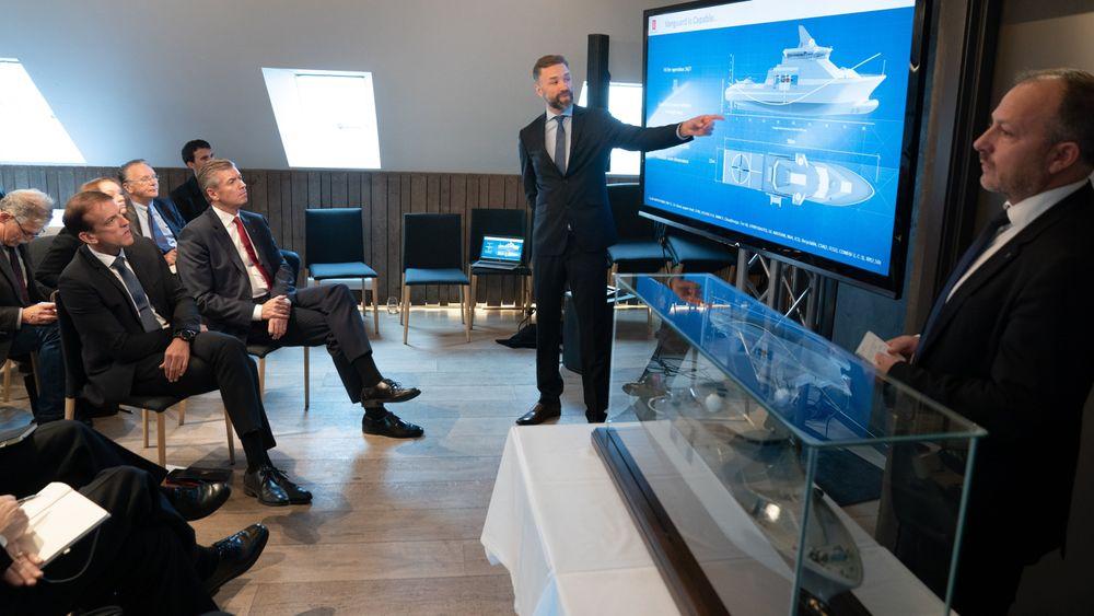 Skipsdesigner Johannes Eldøy i Salt Ship design sier en av hovedoppgavene til Vanguard er å være moderskip til mindre fartøyer.