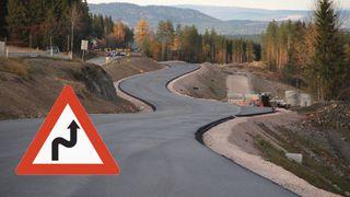 15.000 kurver på svenske veier er for krappe. Slik står det til langs norske veier