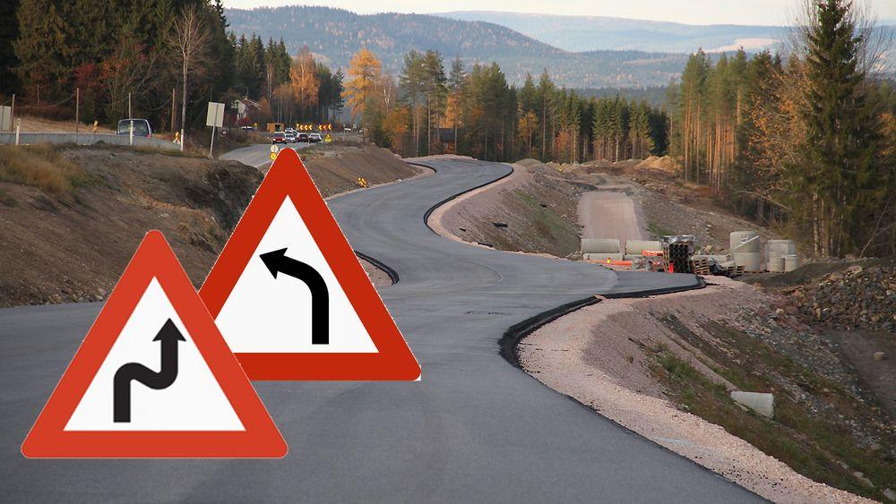 Utbredt bruk av varselskilt og lavere fartsgrenser i forbindelse med krappe svinger skal forhindre ulykker på gamle, norske veier.