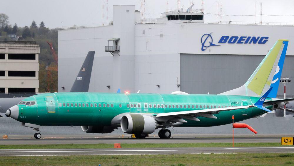 Et Boeing 737 MAX 8-fly skal ta av under en test i Seattle i september.