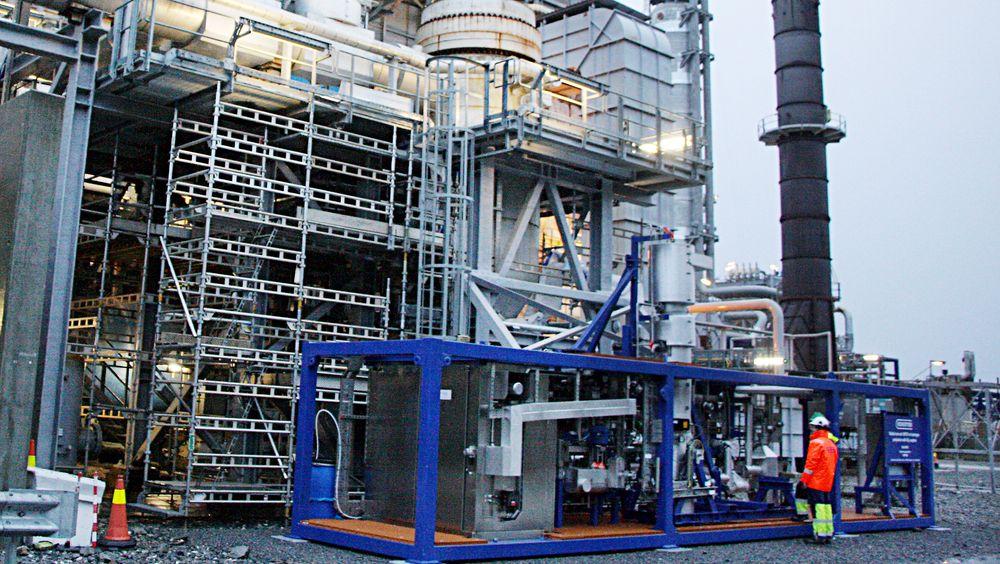 Reinertsen tester membranteknologi for produksjon av hydrogen fra syntesegass på Tjeldbergodden.