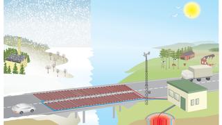 Vegvesenet tester langs nye E39: Solenergi fra sommermånedene skal redusere bruken av veisalt