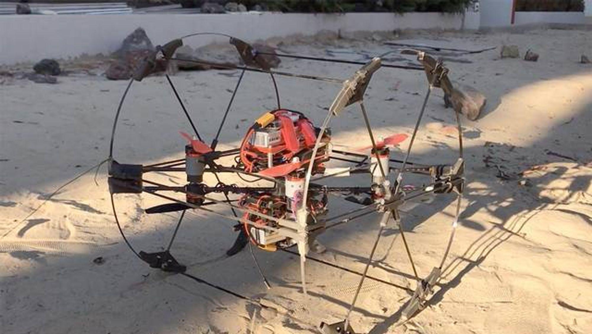 Den 3D-utskrevne prototypen på Shapeshifter testes ut hos NASAs Jet Propultion Laboratory.
