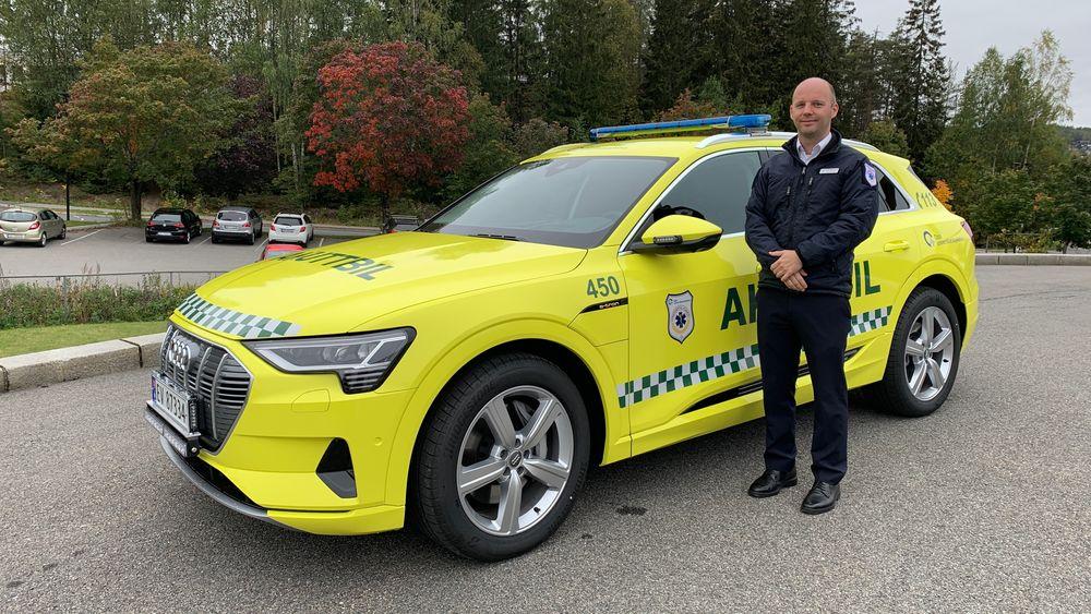 – Etter ha vurdert rekkevidde, pris og bagasjerom, valgte vi Audi e-tron, sier Tommy Buch Abrahamsen ved OUS.
