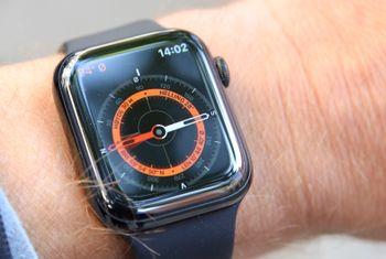 Kompasset er en av nyhetene i 5. generasjon Apple Watch.