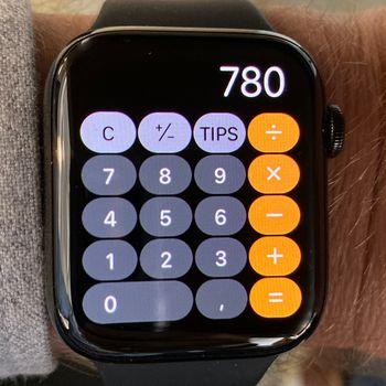 Kalkulator-appen er kjekk å ha.