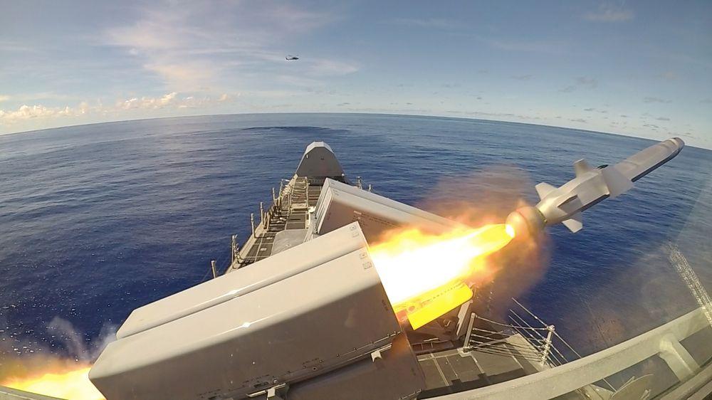 NSM skytes fra LCS-skipet «Gabrielle Giffords» i Filippinerhavet 1. oktober 2019.