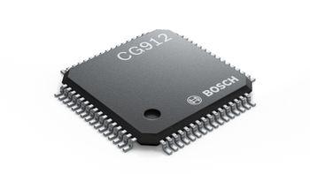 Den er én kvadratcentimeter, og veier bare noen få gram. CG912-brikken fra Bosch skal gjøre det tryggere å krasje med elbiler.