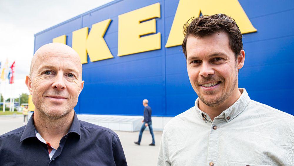 Daglig leder Sjur Usken og salgsdirektør Christian Skaarup Rasmussen håper på flere store avtaler etter at de kan dokumentere energisparing på Ikeas varehus.