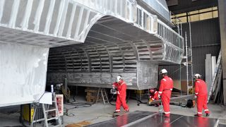 Ny hverdag for skipsverft på Stord: Bygger katamaraner til havvind-bransjen