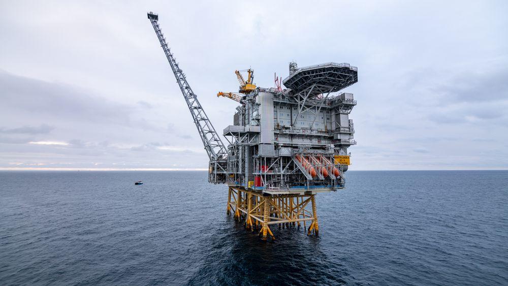 Martin Linge-plattformen ferdig installert i Nordsjøen sommeren 2018.