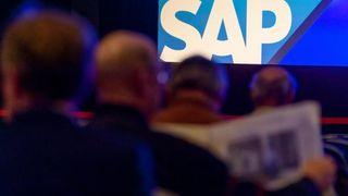 Fra salen under en SAP-konferanse.