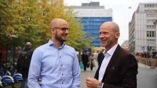 Fra venstre: Dataingeniør Jeroen Vos og daglig leder Rune Tangen i Point Taken.