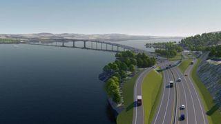 Ingen norske entreprenører ville bygge ny E6 med bru over Mjøsa