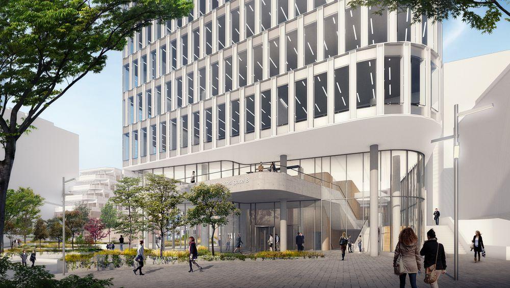 Den nye parken skal lokke folk inn i K8, der de to nederste etasjene blir åpne for publikum med café.