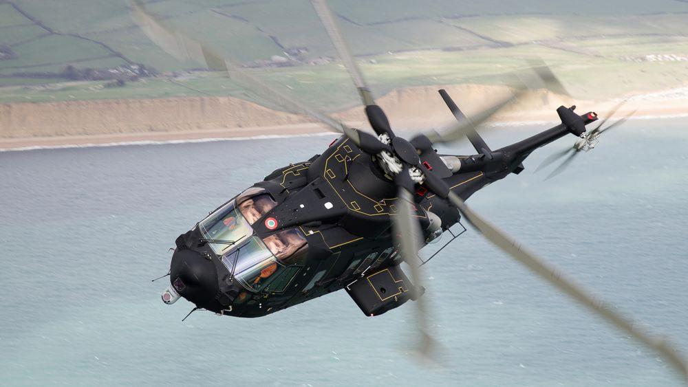 Dette er den italienske HH-101A Caesar under testing. Dette er helikopteret som dannet grunnlaget for det nye norske redningshelikopteret.