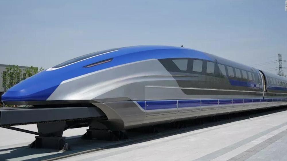 Eksempel på kinesisk maglev-tog.