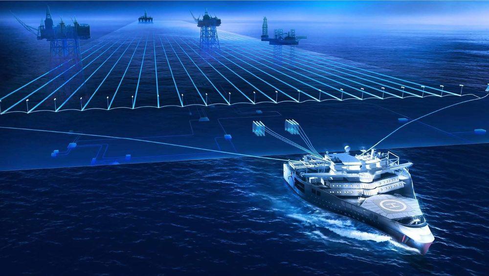 Dagens seismikkoperasjon er omfattende og kostbar. Det koster minst en million kroner i døgnet for å drifte et skip med 24 lyttekabler på slep, de kan være opp til 12 km lange.