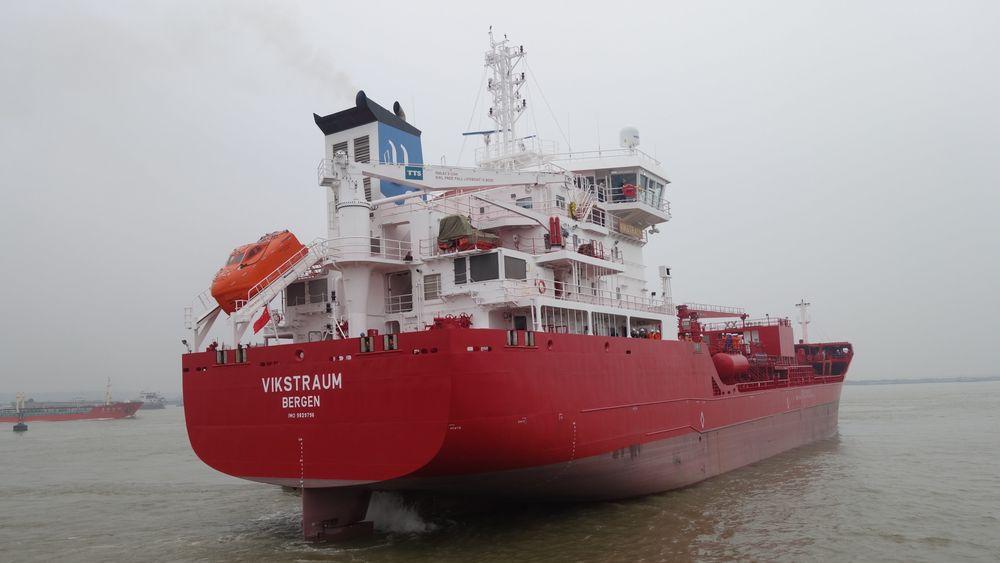 Utkilen bygger i alt fire tankskip med landstrømmuligheter. Kjemikalietankskip nummer to ble levert i Kina fredag.