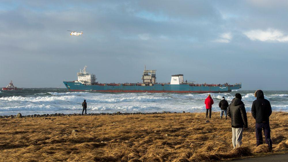 Cargoskipet Tide Carrier fikk motorstopp utenfor Rogaland i februar 2017.