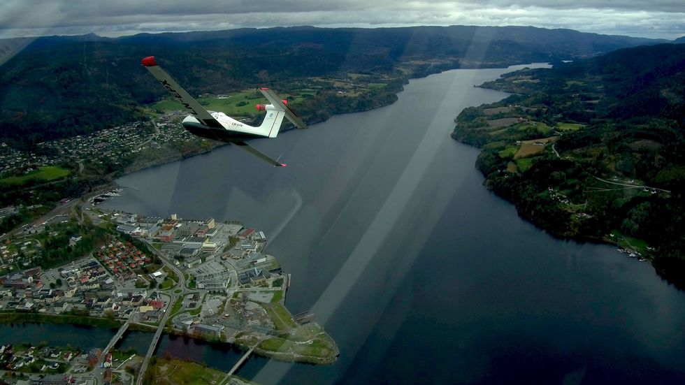 LN-EPX over Notodden.