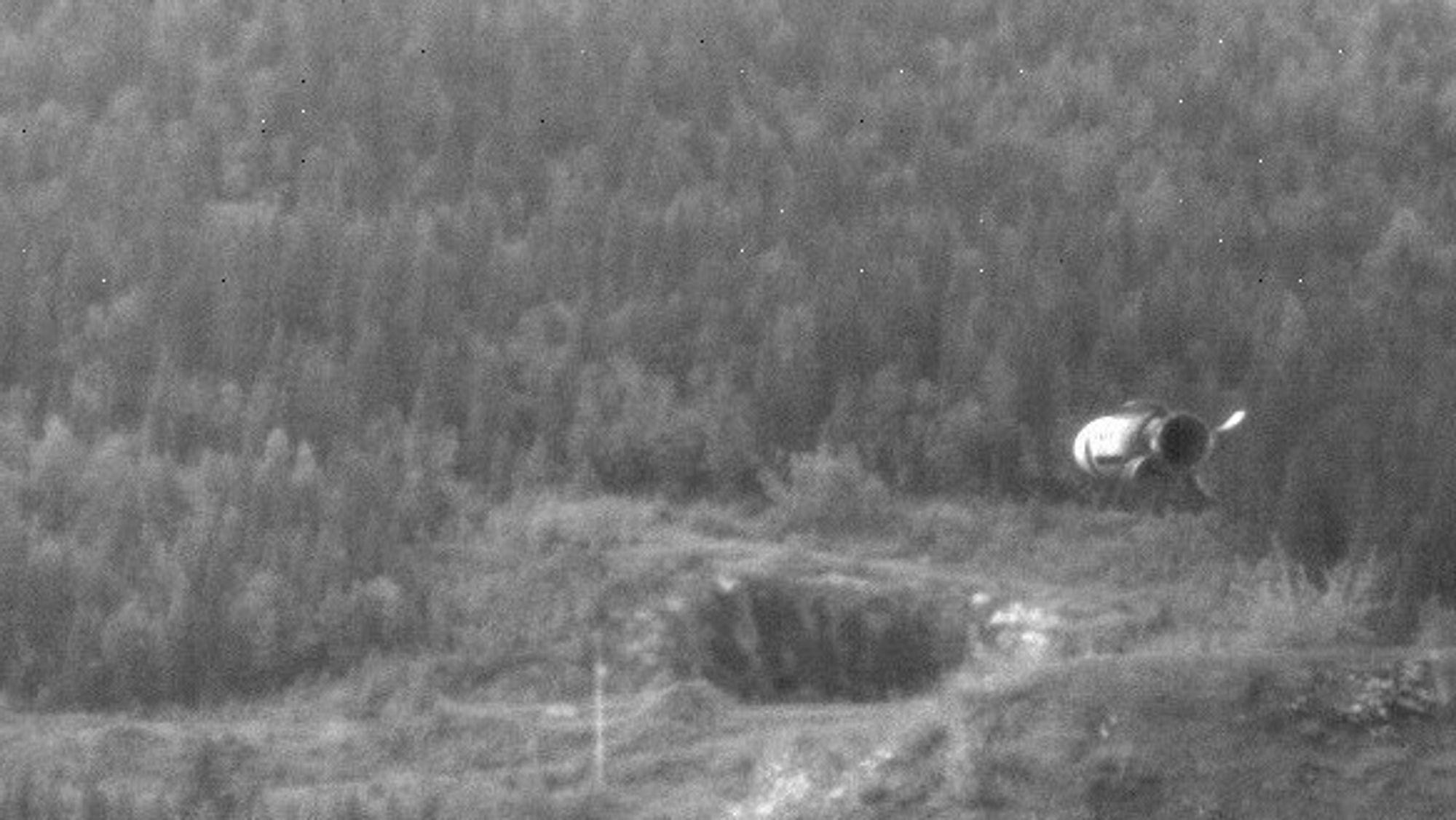 En 155 millimeter ramjetgranat skytes på Nammos testsenter.