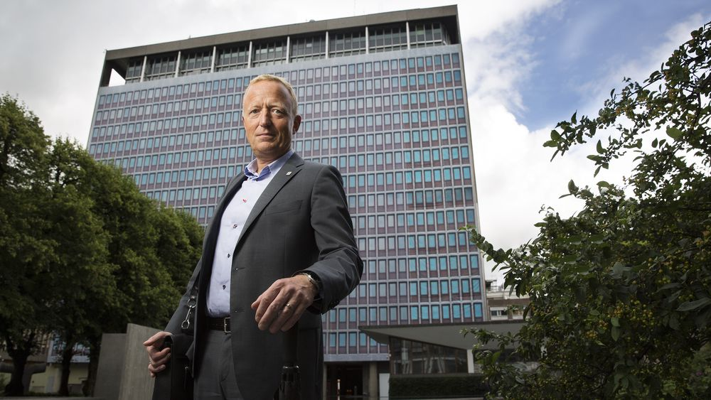Alle som jobber med det nye regjeringskvartalet, sitter skjermet i en egen fløy hos Statsbygg. Harald Nikolaisen er tett på planleggingen. Tidligere i år ble det presentert planer der kvartalet blir 7.000 m2 mindre enn planlagt.