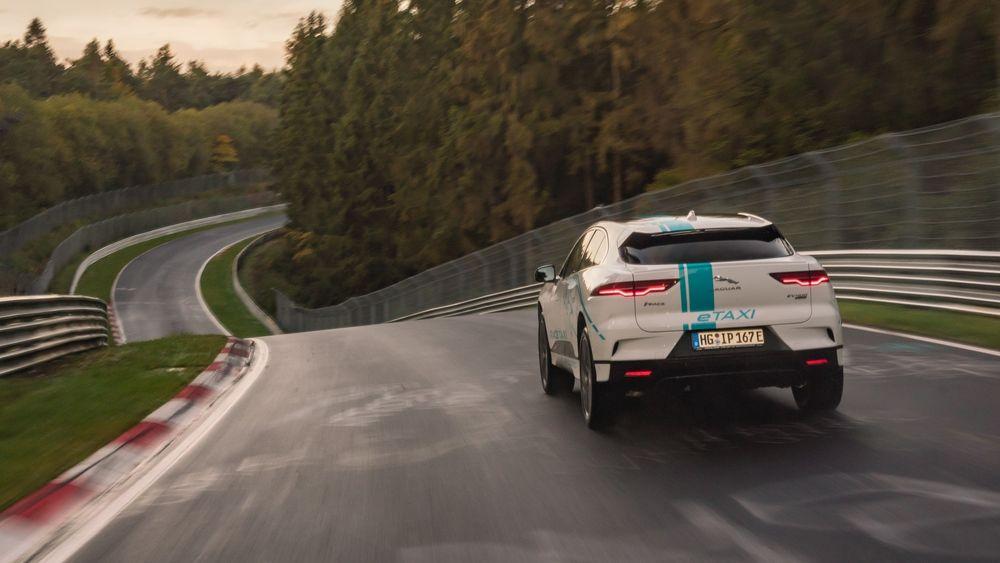 Jaguar I-Pace har fått nytt liv som hastetaxi på Nürburgring.