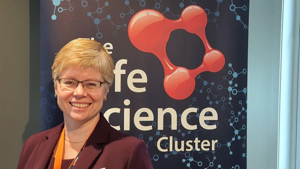 Skal holde styr på mer enn 80 virksomheter: Hanne Mette Dyrlie Kristensen skal lede den nye Arenaklyngen; The Life Science Cluster