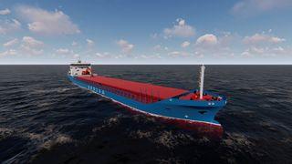 Bulkskip på batteri kutter utslipp med 20 prosent