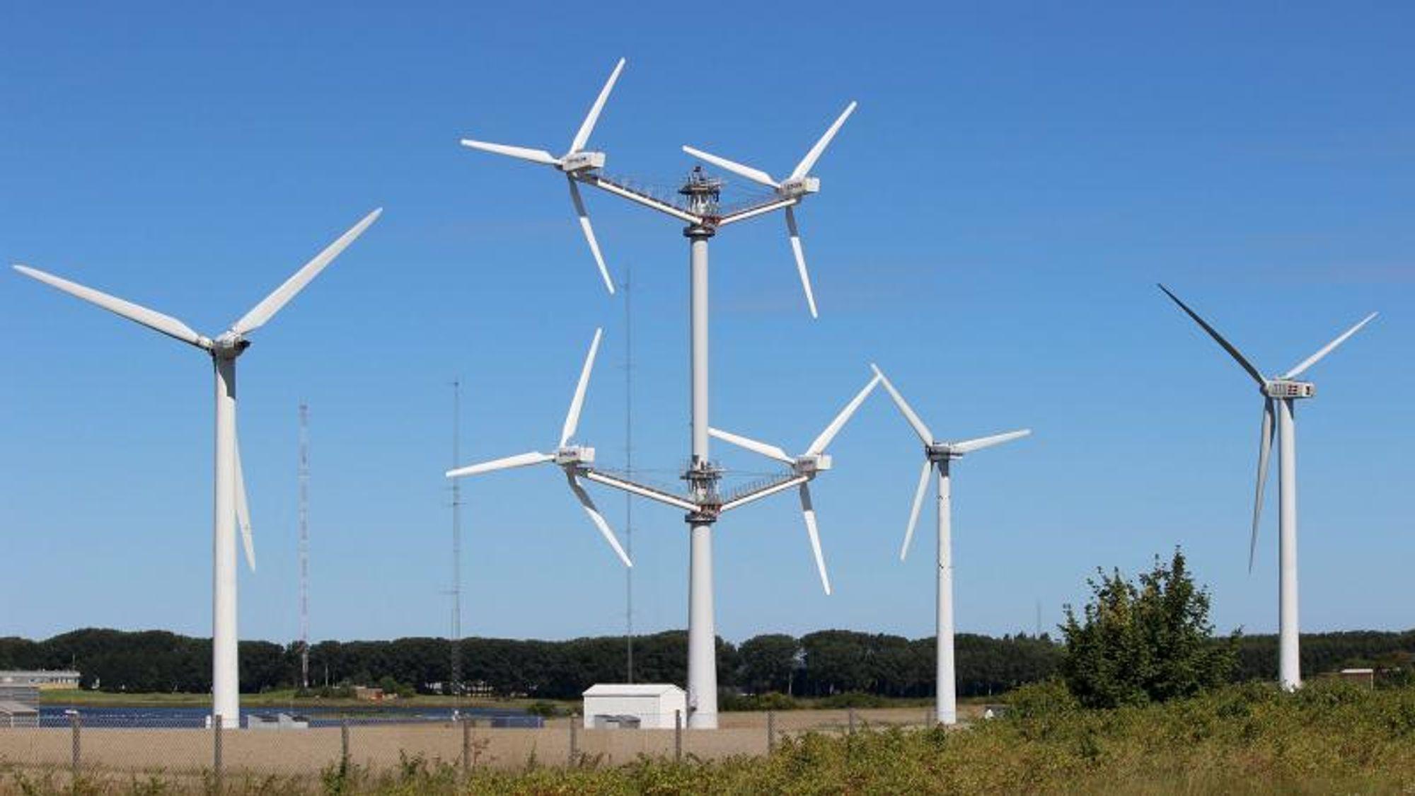 I perioden april 2016 til desember 2018 testet Vestas en multirotor-modell på DTU Winds testområde på Risø.