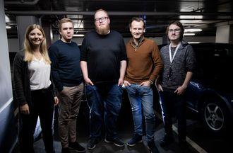 VG Lab, bestående av (fra venstre) Karina Sem Glømmi, Kristoffer Alfheim, Ruben Hagen, Jørgen Elton Nilsen og Petter Høgmo Kaspersen