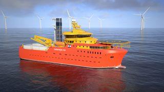 Offshore vind: Bygger serviceskip klargjort for hydrogen