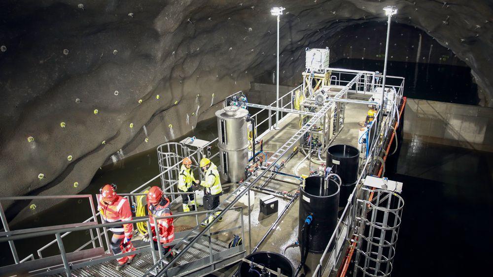Inne i Bjørnegårdstunnelen i Sandvika testes de tre ulike teknologiene som kan bli løsningen i de nye tunnelene på E18 Vestkorridoren.