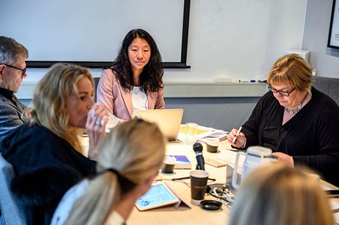 PFU-møtet 23. oktober 2019. Nestleder Anne Weider Aasen leder.