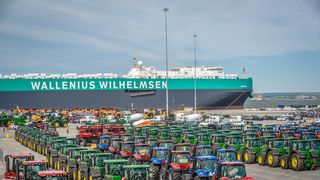 Wallenius Wilhelmsen Parsifal at the Port of Baltimore USA.