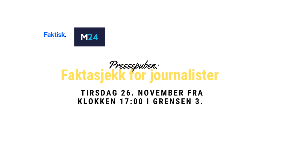 FOR ABONNENTER: Pressepuben: faktasjekk for journalister