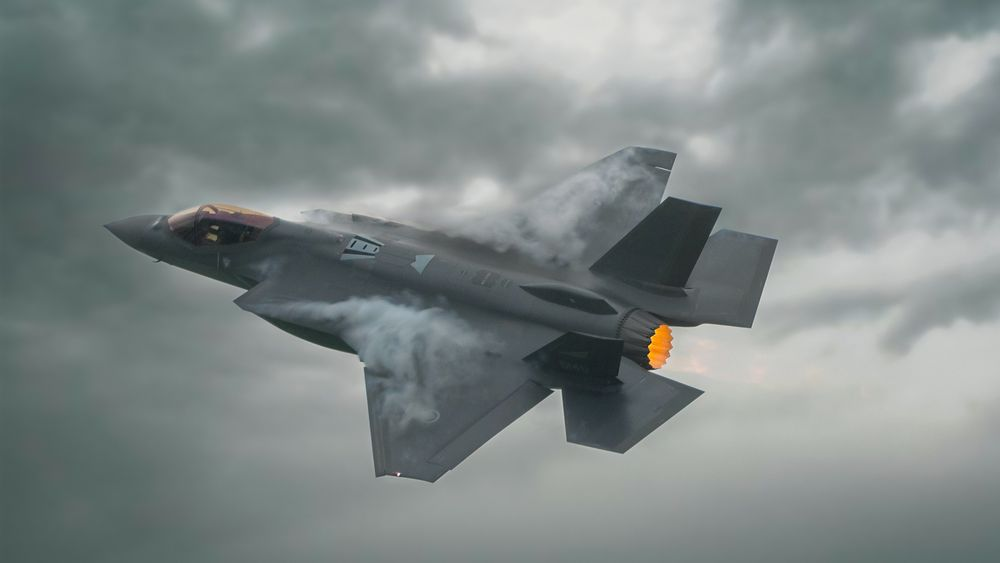 Norsk F-35A under Kjeller Airshow 2019