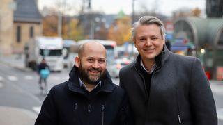 Jan Ketil Skanke (til venstre) og Ståle Hansen i Cloudway.