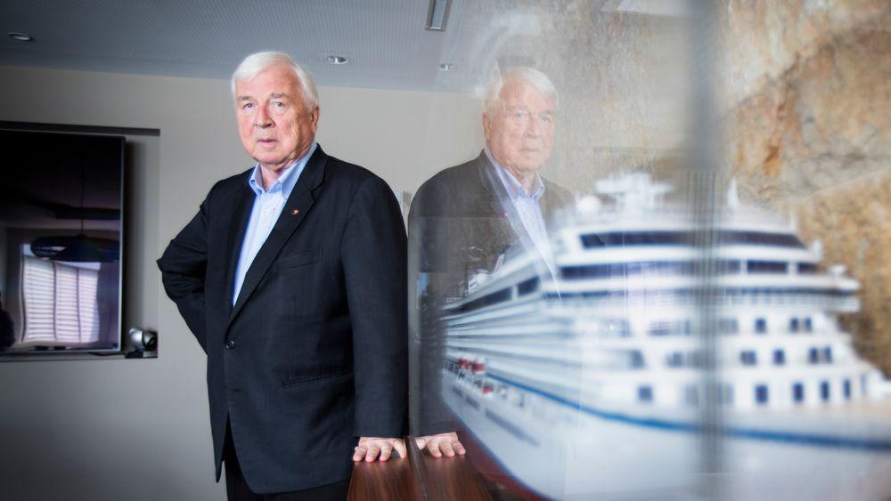 Skipsreder Torstein Hagen leder selskapet Viking Cruise, med hovedsete i Basel. Han hevder cruise bidrar til global nedkjøling.
