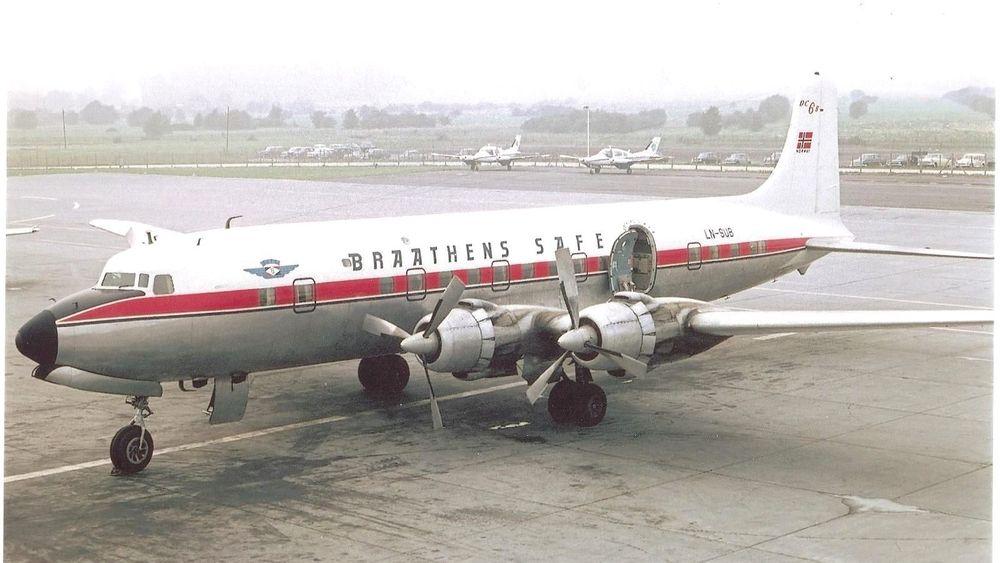 DC-6B-flyet LN-SUB fløy for Braathens SAFE i perioden 1962-1971. Til våren skal flyet tilbake til Sola lufthavn der det skal stilles ut.