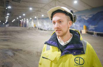 1.10.2019. Bilder fra den nye innendørs skihallen på Lørenskog som åpner vinteren 2020.