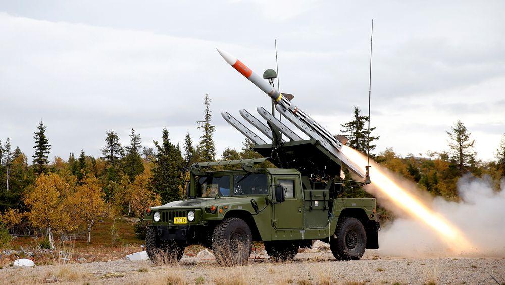 Dette er fra den første skarpskytingen med Nasams HML i Jokkmokk i Sverige i 2014. HML skal også inngå i Hærens kampluftvern sammen med ACSV med Iris-T.