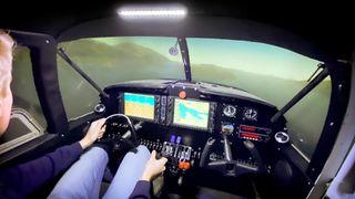 Se den elleville flysimulatoren fra ungdommene i Førde