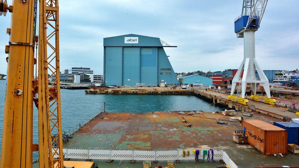 Aibel har nå langt flere oppdrag innen fornybart enn for ett år siden. Her fra Aibels verft i Haugesund.