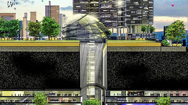 Vil bygge omvendte skyskrapere i bakken under Singapore